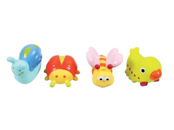 Hračky do vody zvieratká z lúky 4ks