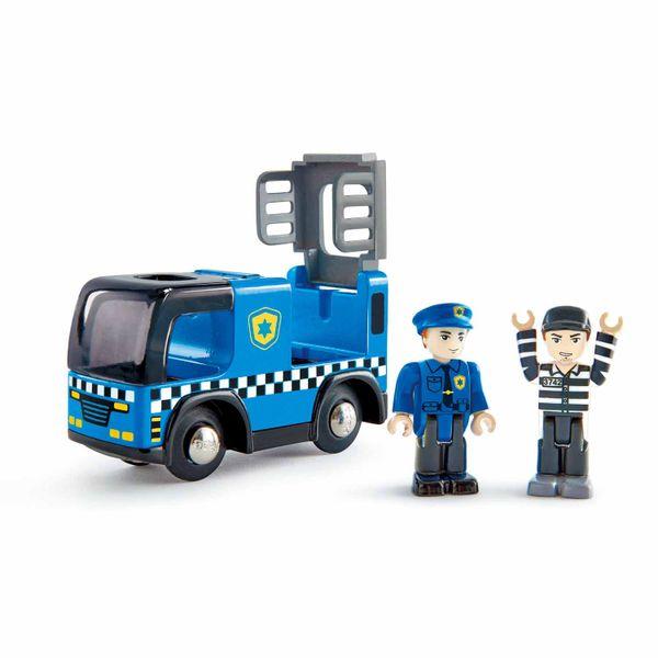 Policajné auto si sirénou