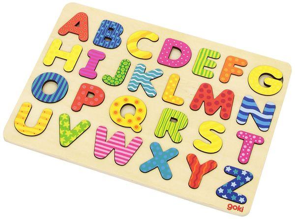 Vkladacie puzzle Abeceda